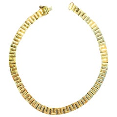 91.2 Grams 18 Karat Yellow Gold Chain Link Style Gold Men's Necklace