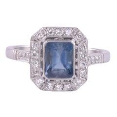 .92 Carat Aquamarine Platinum Ring