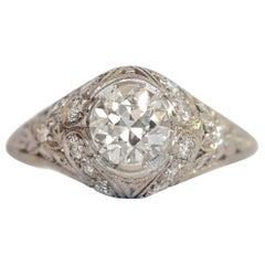 .92 Carat Diamond Platinum Engagement Ring