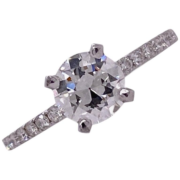 .92 Carat Diamond Solitaire Engagement Ring GIA I/VS1 18 Karat White Gold For Sale