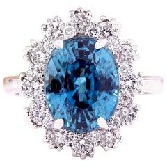 9.20 Carat Zircon 18 Karat Solid White Gold Diamond Ring