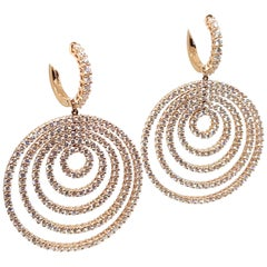 9.25 Carat Leo Pizzo Rose Pink Gold Diamond Chandelier Drop Earrings