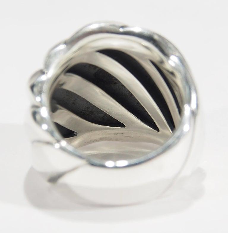 Women's or Men's 925 David Yurman Cigar Ring Band Sterling Silver