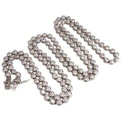 925 Sterling Silver 20 Carat Cubic Zirconia Necklace