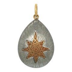 925 Sterling Silver and 18 Karat Yellow Gold Geminato Pendant by Buccellati