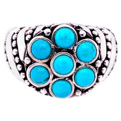 925 Sterling Silver and Turquoise Ring