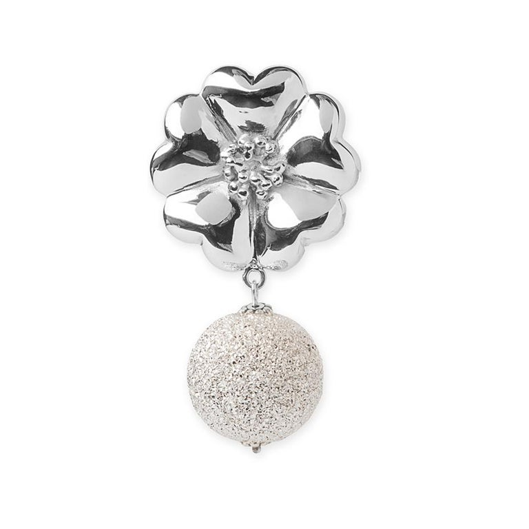 Designed in NYC  .925 Sterling Silver Large Blossom Starburst Earrings. Blossom takes a contemporary, yet elegant twist with starburst. Large blossom starburst earrings:   Sterling silver  High-polish finish  Light-weight  Top 20 mm 3D flat-back