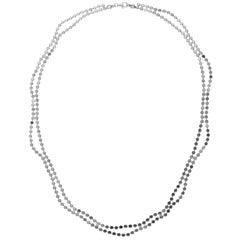 925 Sterling Silver Minimal Short Wave Round Motif Chain Greek Necklace