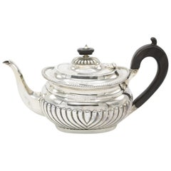 925/- Sterling Silver Teapot London 1898 Queen Anne Style