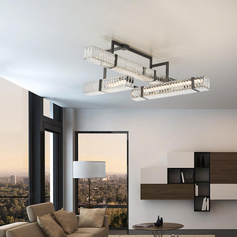 Hand-Crafted 9280/90 Ceiling Light  For Sale