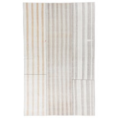 Hand-Woven Large Cotton Kilim, Great for Modern Office and Home