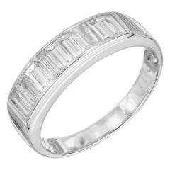 .93 Carat Diamond White Gold Channel Set Wedding Band Ring