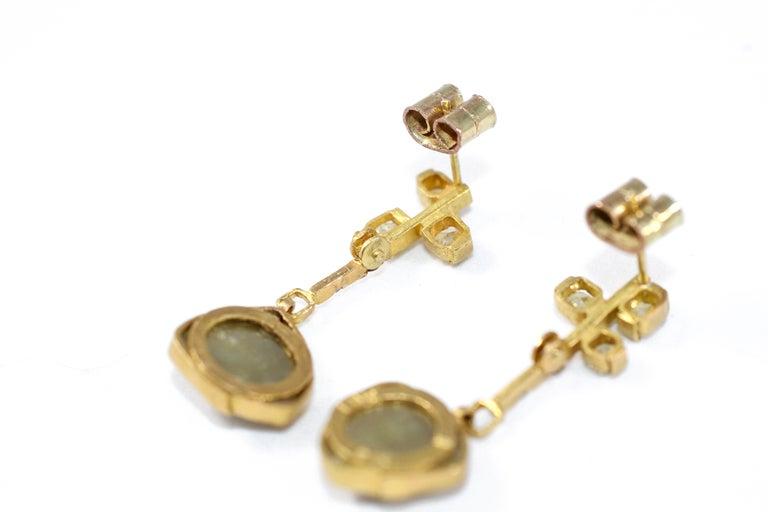 9.3 Carat Yellow Diamonds 21-22k Gold Chandelier Drop Earrings Wedding Jewelry For Sale 1