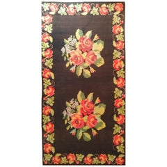 938 - Beautiful Vintage Kilim Floral Design