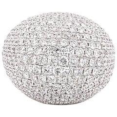 9.39 Carat / Composite Diamond Ring / 18 Karat White Gold