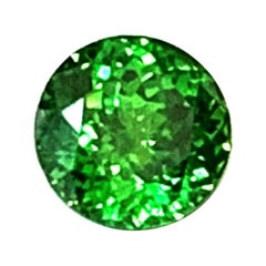 .94 Carat Rare Green Demantoid Garnet GIA, Unset 3-Stone Ring Collector Gemstone
