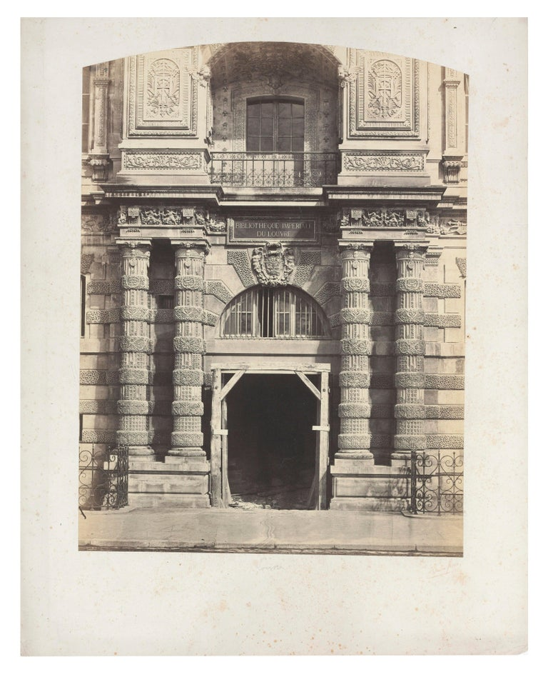 Bisson Frères Black and White Photograph - Architectural Images, Imperial Library of the Louvre, Europe