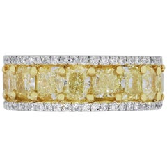 9.45 Carat Cushion Diamond Eternity Band