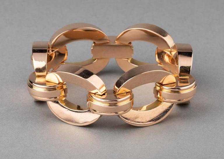 Retro Clerc Paris French Vintage Gold Bracelet  In Excellent Condition For Sale In Saint-Ouen, FR