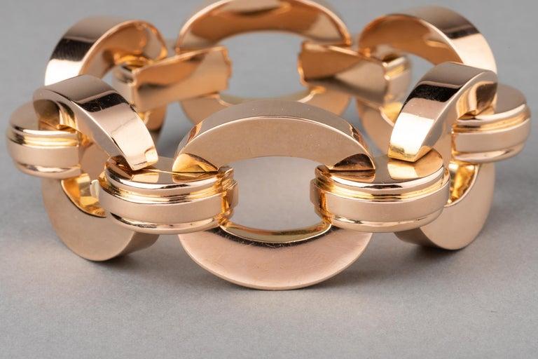 Women's  Retro Clerc Paris French Vintage Gold Bracelet  For Sale