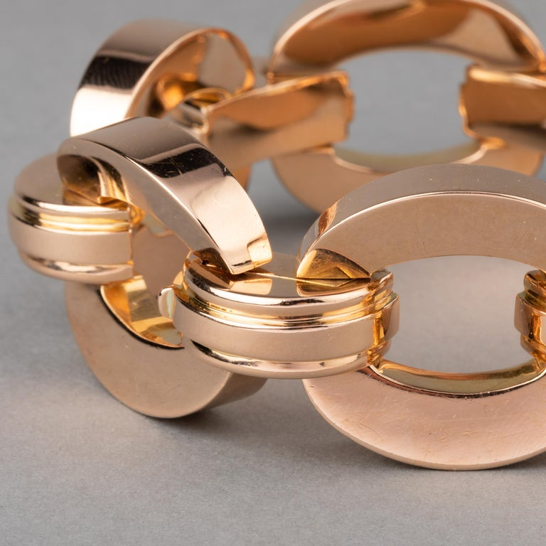 Retro Clerc Paris French Vintage Gold Bracelet  For Sale 1