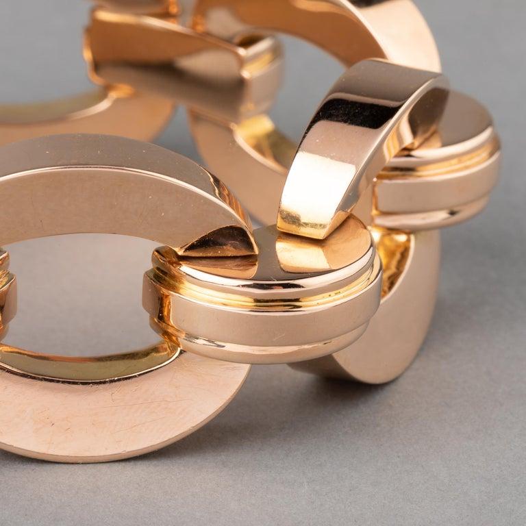 Retro Clerc Paris French Vintage Gold Bracelet  For Sale 2