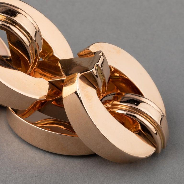 Retro Clerc Paris French Vintage Gold Bracelet  For Sale 5