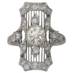 .95 Carat Diamond Platinum Cocktail Ring