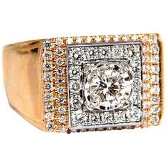 .95 Carat Natural Diamonds Men's Ring 18 Karat
