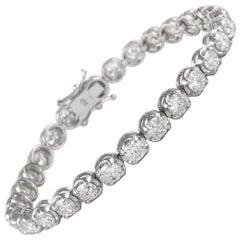 Alexander 9.56 Carat Diamond Tennis Bracelet 18 Karat White Gold