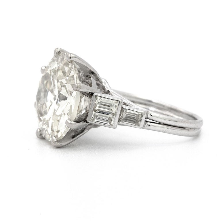 9.58 Carat Old European Cut Diamond Ring In Good Condition For Sale In New York, NY