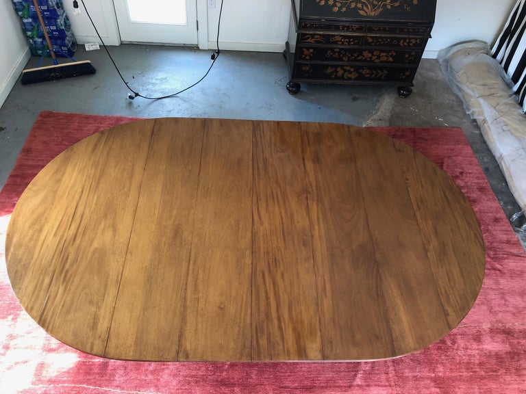 20th Century Custom Rose Tarlow Melrose House Mahogany Dining Table With Two Leaves For Sale
