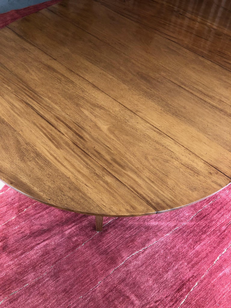 Custom Rose Tarlow Melrose House Mahogany Dining Table With Two Leaves For Sale 2