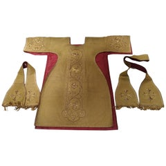 964 - French 19th Century Religious Chasuble in Metal Wire in 3 Pieces