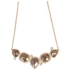 9.69 Carat Fancy Diamond Pendant 18 Karat Gold Necklace