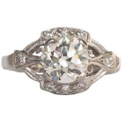 .97 Carat Diamond Platinum Engagement Ring