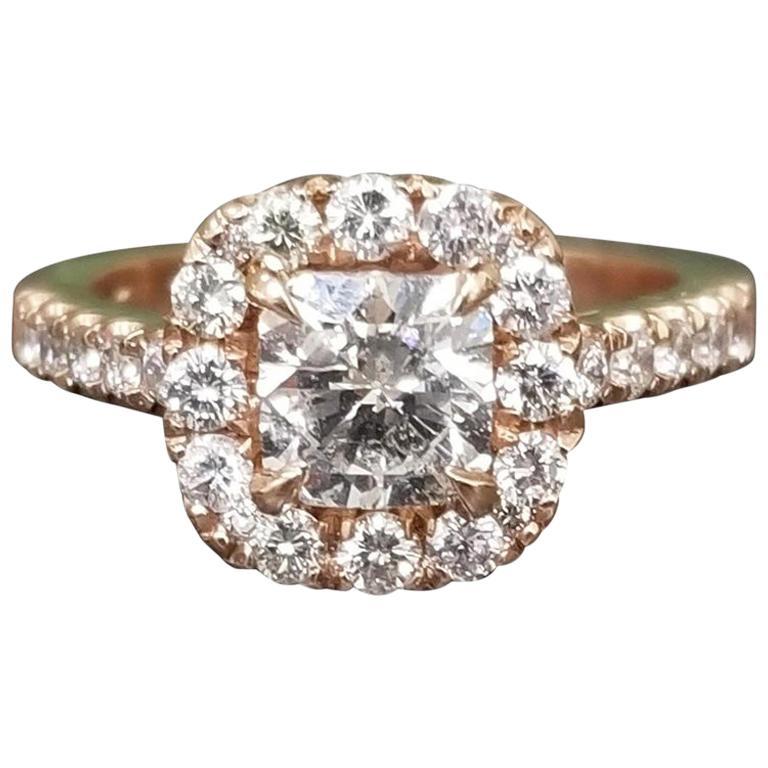 .97 Carat Radiant Diamond in Halo Ring