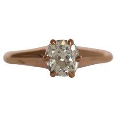 .98 Carat Diamond 14 Karat Yellow Gold Engagement Ring