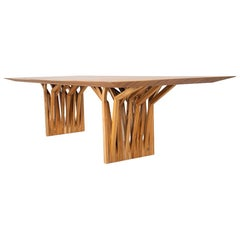 Radi Dining Table with Roofing Anchor Table Base in Teak
