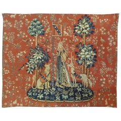"""984 - Jacquard Tapestry """"Touch"""" is from the Lady with the Unicorn Series"""