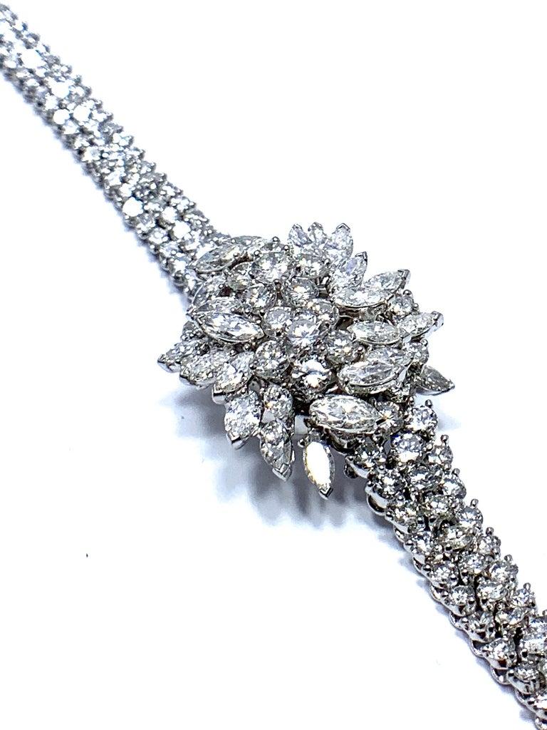9.85 Carat Diamond Encrusted Universal Geneve Platinum Watch For Sale 2
