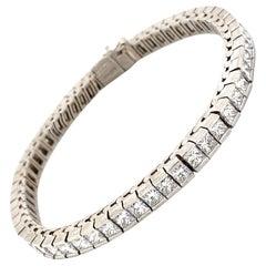 9.90 Carat Princess Cut Diamond Tennis Bracelet Channel Set Platinum