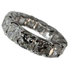 9.99 Carat Cushion Cut Eternity Band Ring