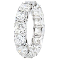 9.99 Carat Cushion Cut Eternity Band Ring