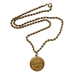 9ct 375 Gold Georg Jensen St.Christopher Necklace