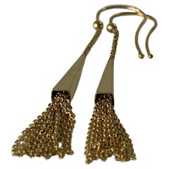 9ct Gold Cone Chain Earrings
