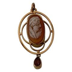 9ct Gold Italian Antique Cameo Pendant
