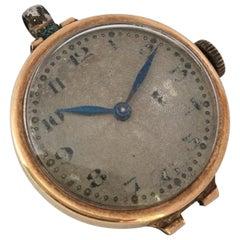 9 Karat Gold Antique Buren Mechanical Ladies Trench Watch / Pendant Watch