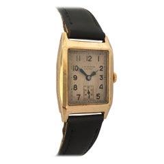 9 Karat Gold Vintage J. W. Benson London Mechanical Watch