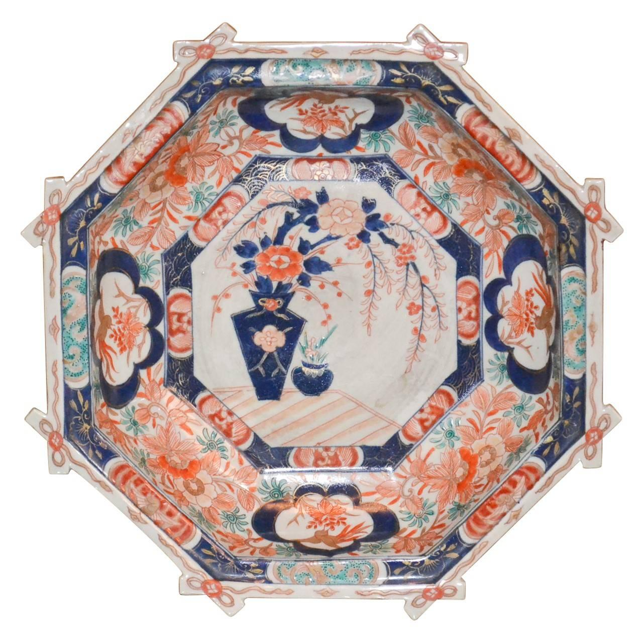 19th Century Japanese Octagon Shaped Imari Bowl